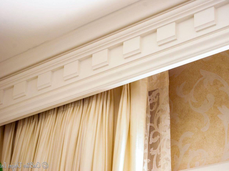 Белый багетный карниз для штор фото в интерьере
